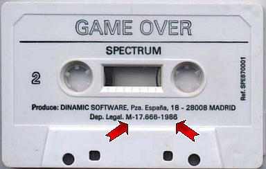 Game Over - Cassette original